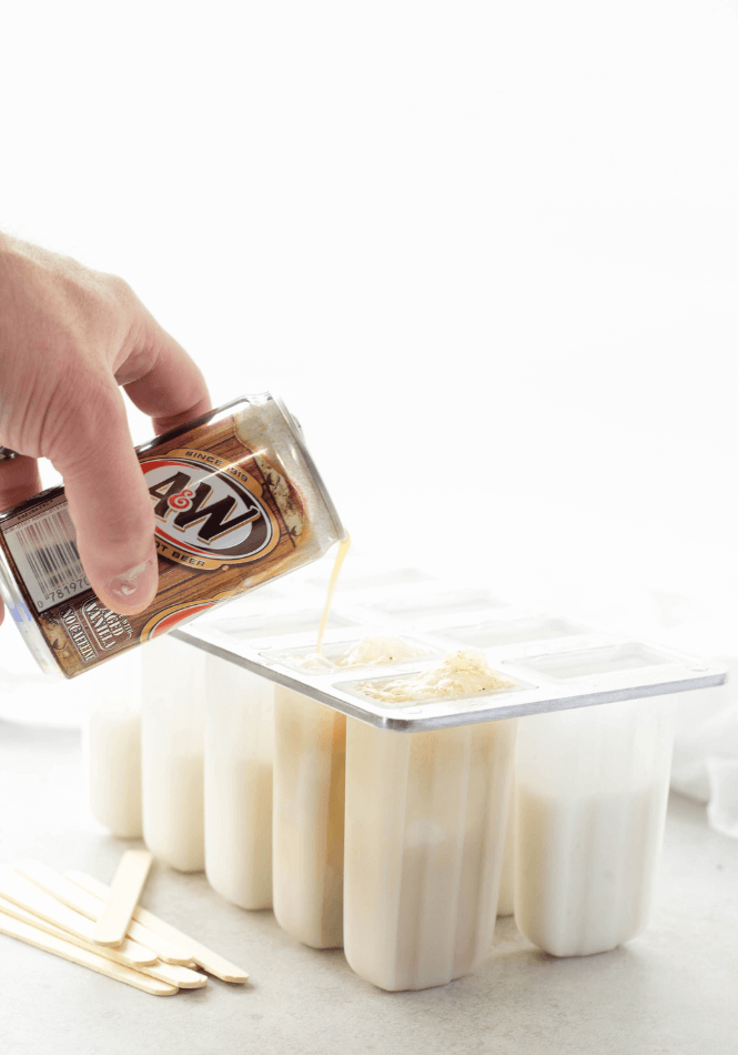 Root Beer Float Popsicles | Simply Made Recipes