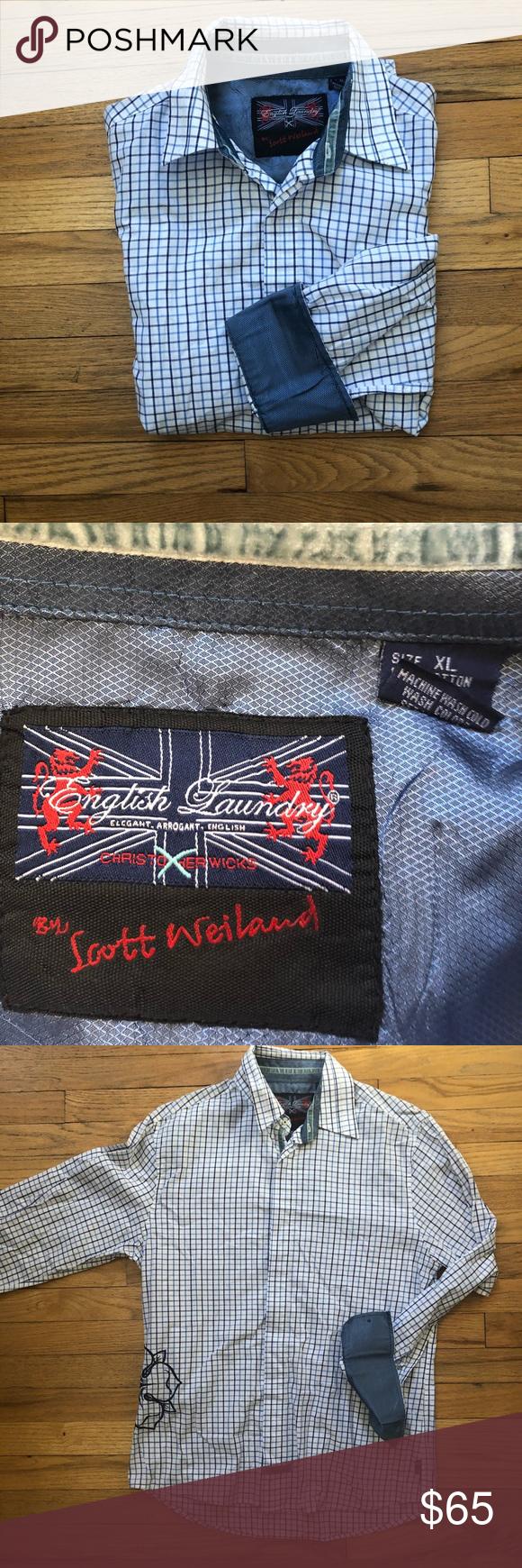 ⬇️65 English Laundry Scott Weiland Flip Cuff Xl Fashion
