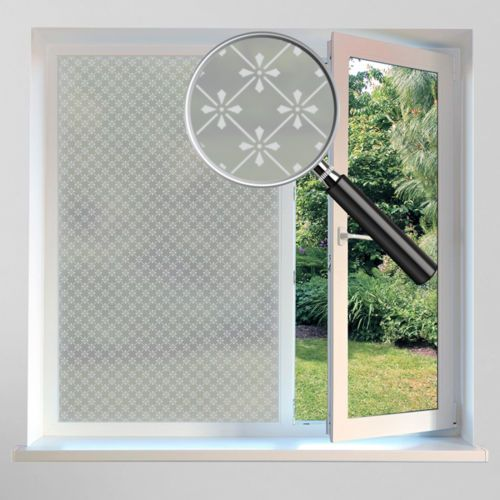 PVC Frosted Window Film Privacy White Opal Frost Etched Glass Self