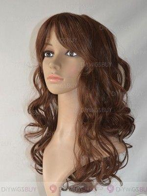 Vogue Ondulée Longue Lace Front 100 Cheveux Naturels Remy