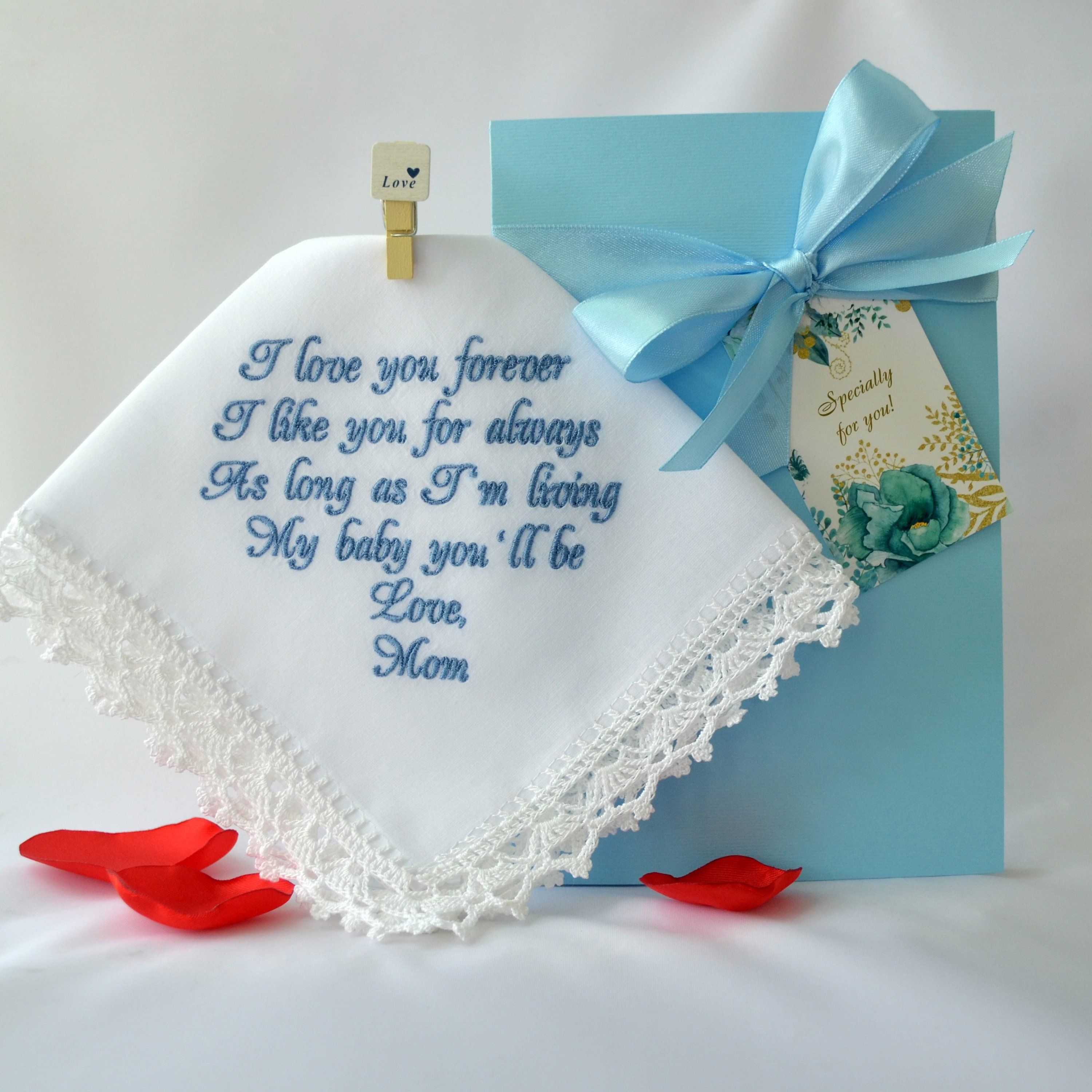 Daughter wedding gift from mom ill love you forever bride