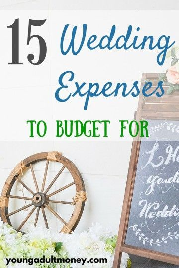 Wedding Expenses To Budget For  Wedding Expenses Saving Money