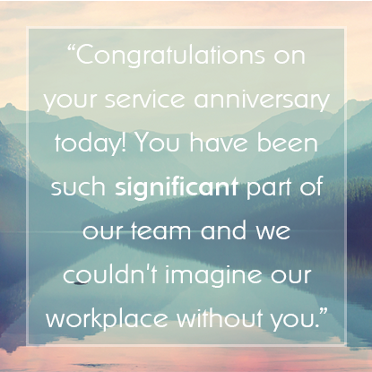 Thank You For Being Such A Valuable Member Of Our Team Wishing You The Best For Continued S Appreciation Message Employee Appreciation Messages Service Awards