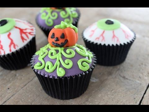 How to Decorate Halloween Pumpkin Cupcakes Recipes from - decorating halloween cakes