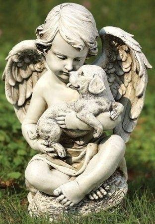 large garden angel statues for sale ornaments uk outdoor australia studio cherub puppy dog statue roman