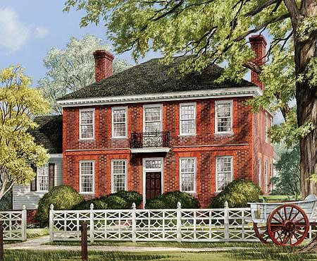 17 Best 1000 images about House Plans Georgian Federal Style on
