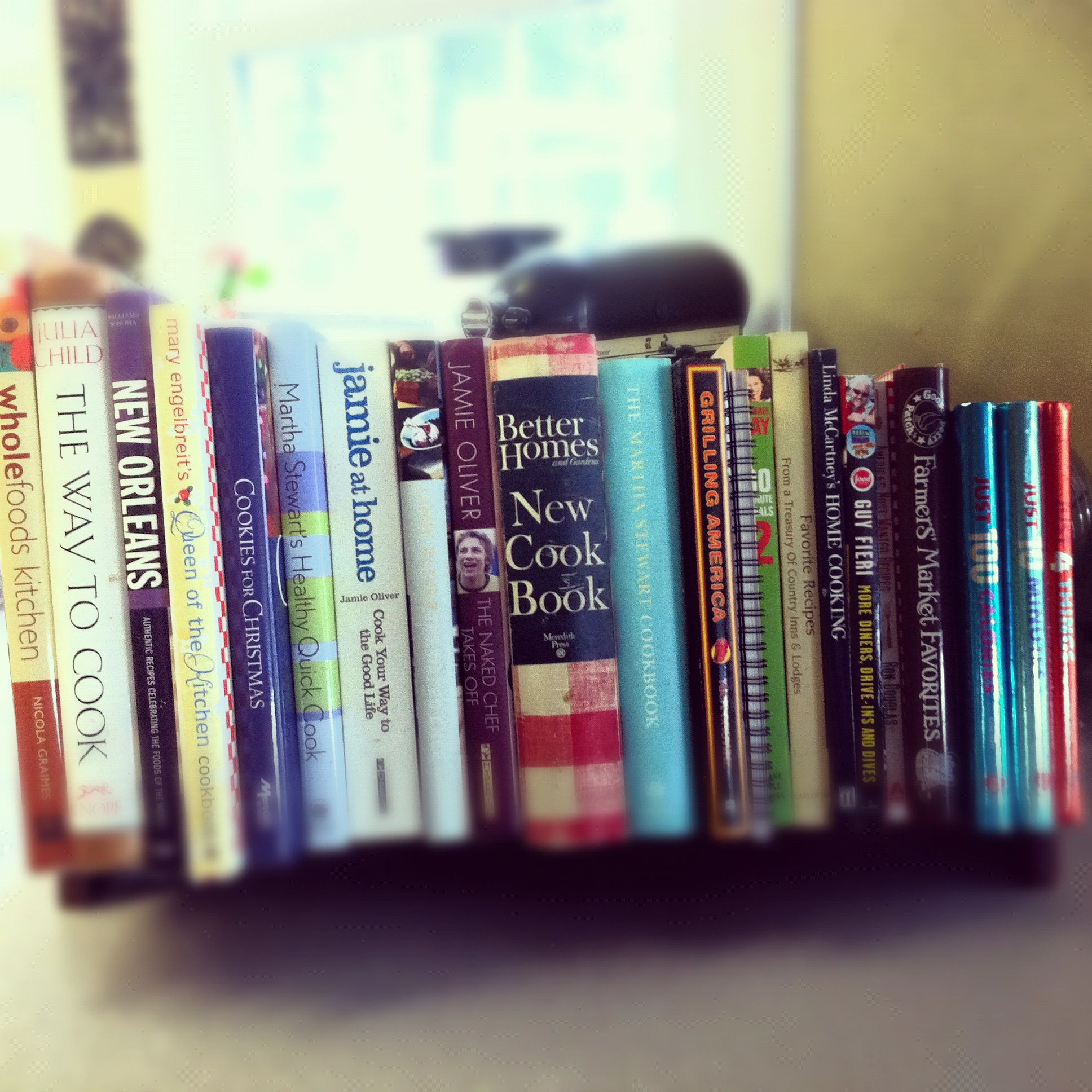 Small Tabletop Bookcase Used To Hold My Cookbooks... Well Some Of My  Favorites