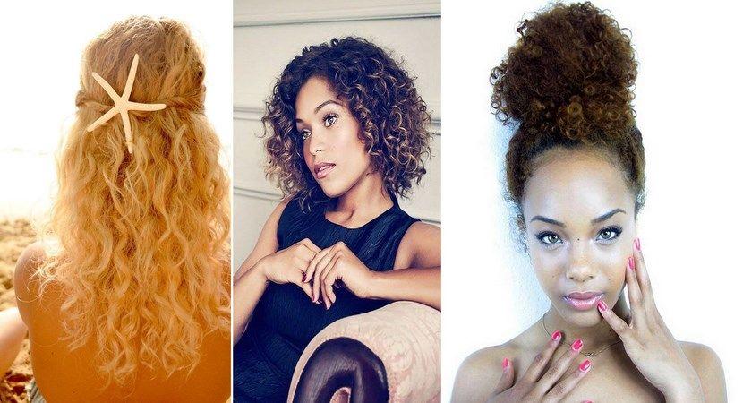 Como mantener el cabello rizado peinado