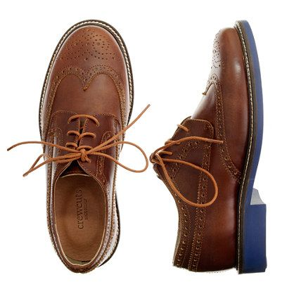 Kids' classic wing tips with contrast sole | aw14 boys story ...