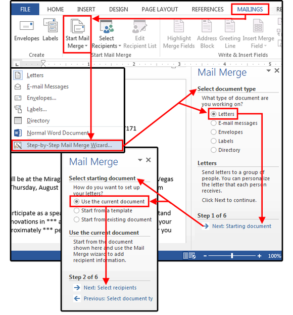 Mail Merge Master Class How To Merge Your Excel Contact Database With Custom Letters In Word Pcworld Mail Merge Microsoft Word Document Excel