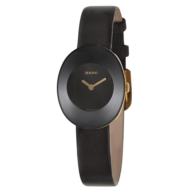 Rado Women S Esenza Black Leather Watch Size One Size Fits All In 2020 Black Leather Watch Quartz Watch Leather