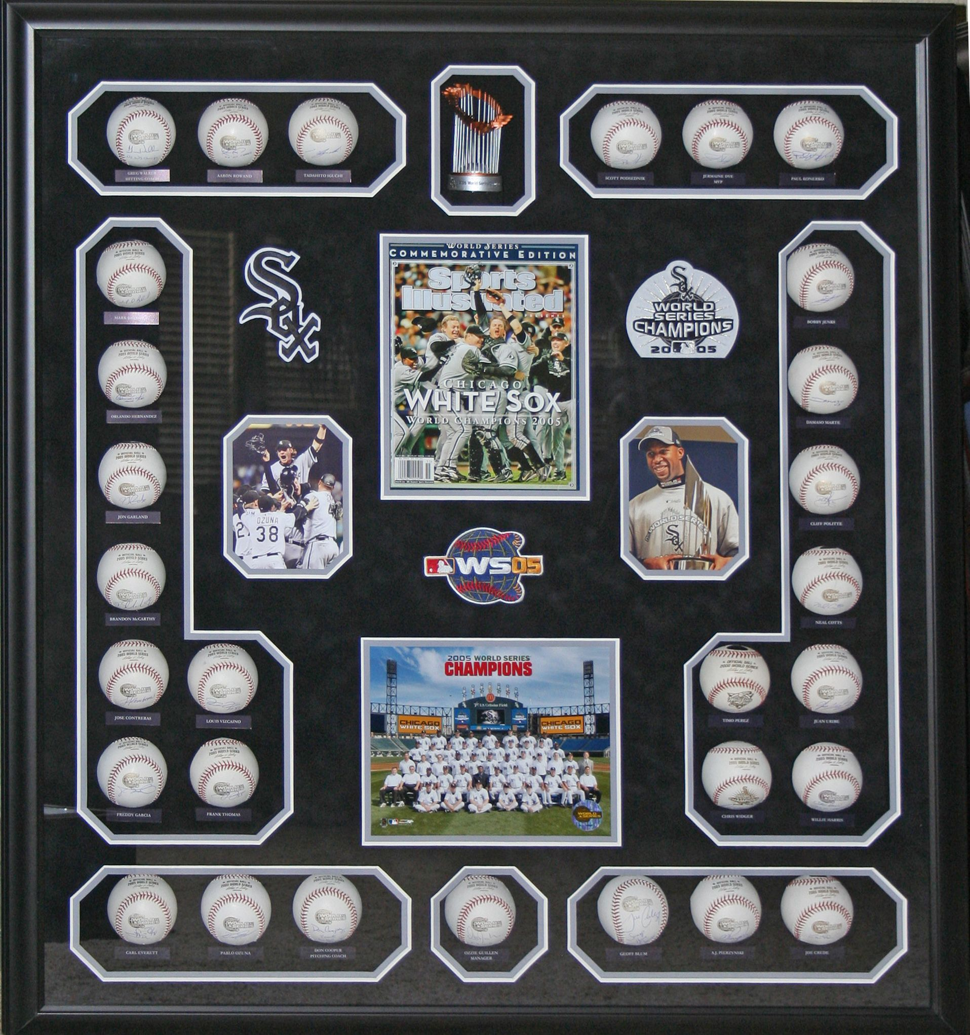 Chicago White Sox World Series autographed baseball shadowbox framed ...
