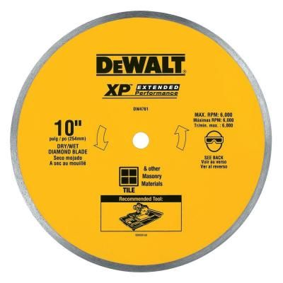 Dewalt 10 In X 0 060 In Wet Ceramic Tile Blade Products In 2019 Circular Saw Blades Tile Saw Tools