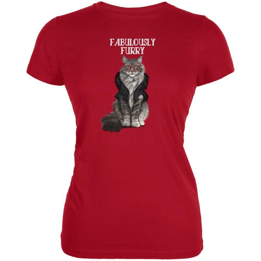 Fabulously Furry Red Juniors Soft T-Shirt
