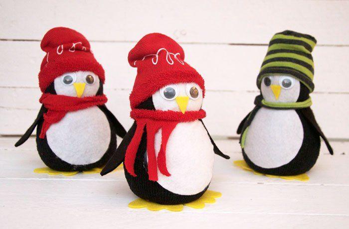 Diy No Sew Sock Penguin Sock Crafts Indie Craft Christmas Crafts