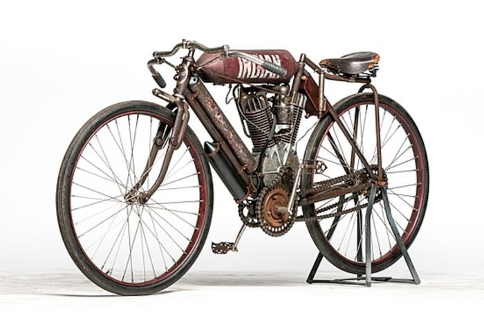 1908 Indian Twin racer