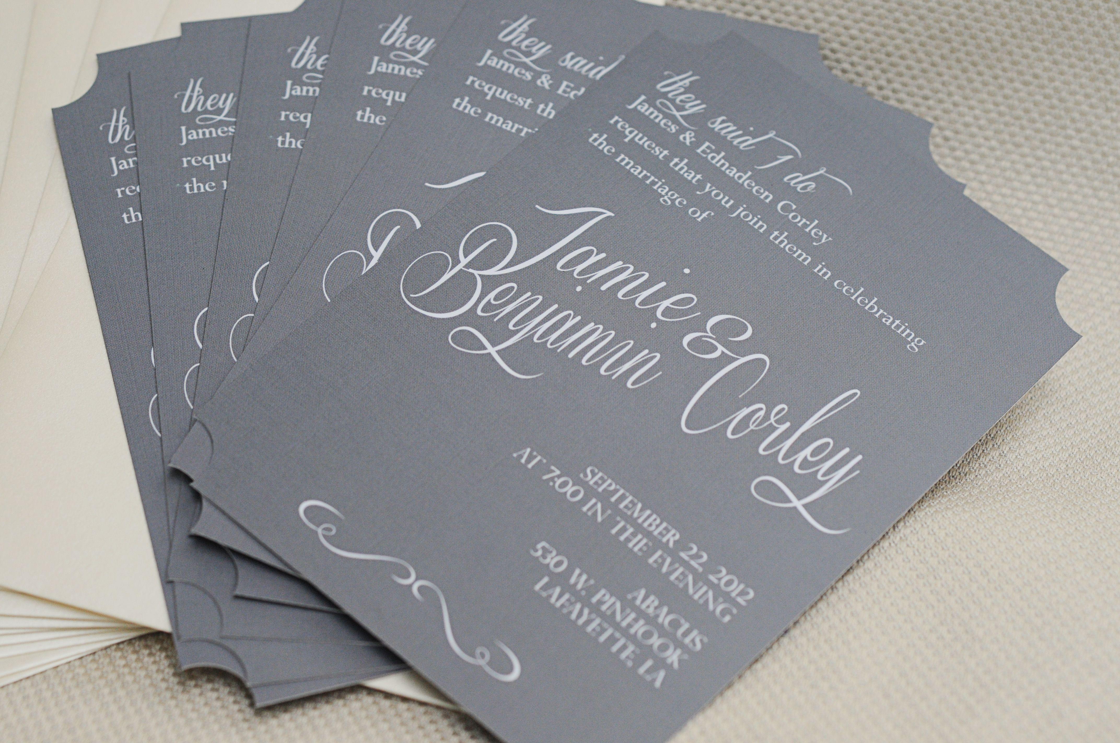 Proper Way To Stuff Wedding Invitations: Wedding Reception Invitation