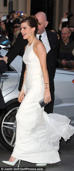 Emma Watson arrives in London's Leicester Square on Monday evening for the UK premiere of new movie Noah