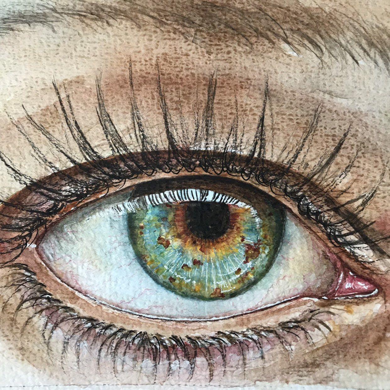 зеленые глаза картинки карандашом всё
