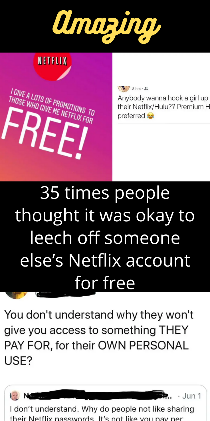 35 Times People Thought It Was Okay To Leech Off Someone Else S Netflix Account For Free Just Amazing Amazing Things To Think About