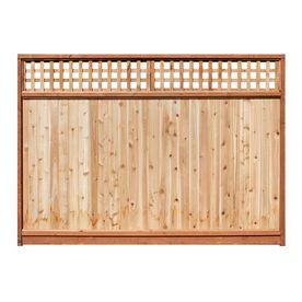 5.7u0027 X 8u0027 Western Red Cedar Lattice Top Wood Fence Panel