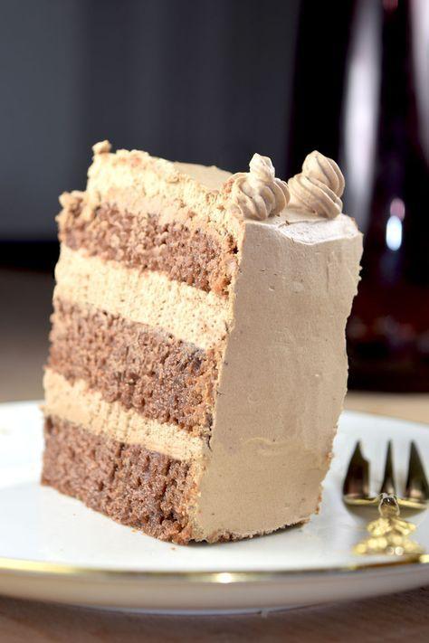 Lieblingstorte Vegane Nougat Sahne Torte Rezept Backen Vegan