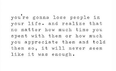 It Will Never Seem Like It Was Enough Lost People Quotes Picture Quotes