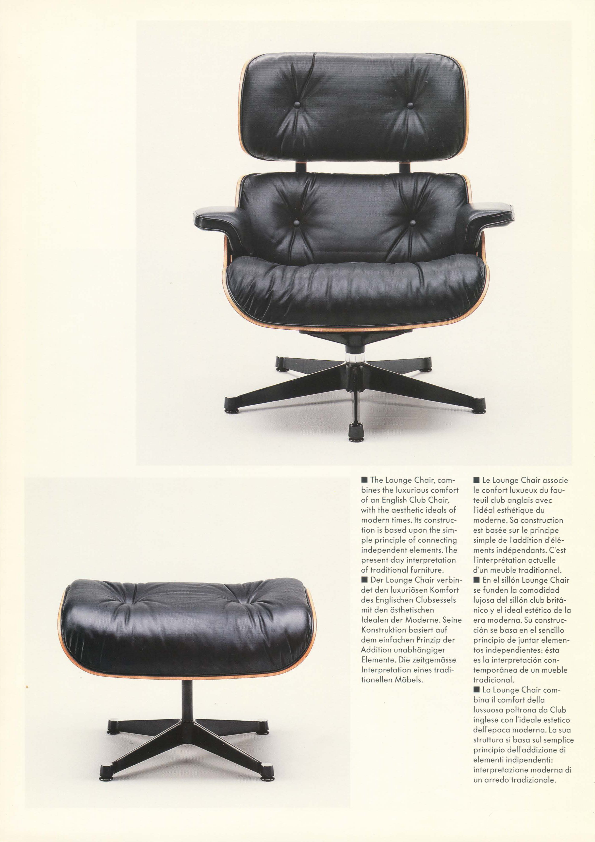 Vitra Eames Lounge Chair Black Eames Lounge Chair And Ottoman Authentic By Vitra Vitra