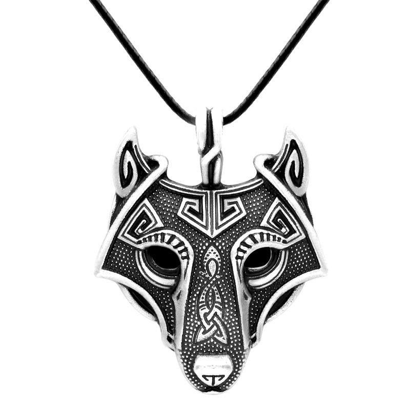 Wolf Mask Vikings Pendant Necklace | Viking wolf necklace