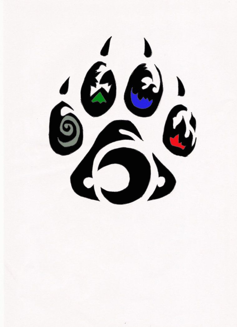 Element Wolf Paw Tribal Tattoo By Relic94 On Deviantart ...