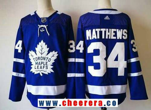 Men s Toronto Maple Leafs  34 Auston Matthews Royal Blue Home 2017-2018 adidas  Hockey Stitched NHL Jersey dda042fa5