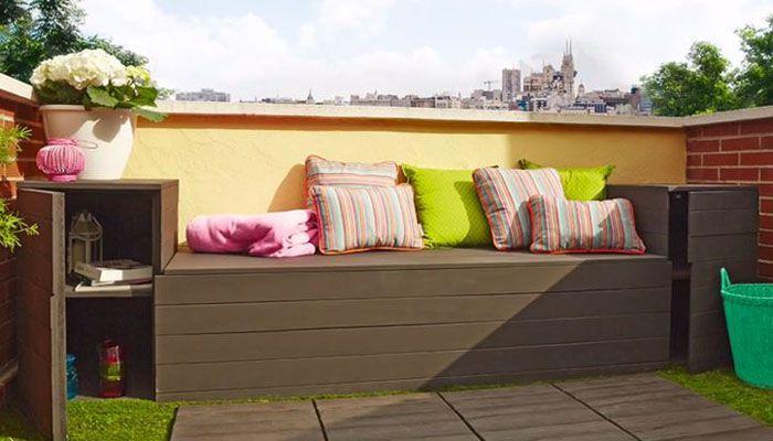 Resultado de imagen de decoracion terraza barata terraza Pinterest - como decorar una terraza