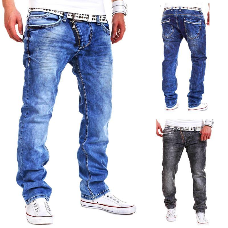 High Quality 2017 CosMaMa Brand mens fancy latest design rockstar wide leg  urban with zipper biker jeans pants 0343ed3dbb