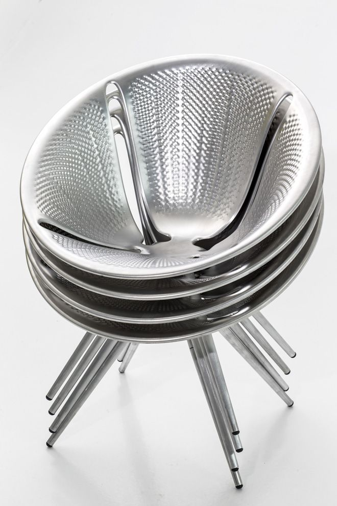 Diatom Stackable Aluminum Chair by Ross Lovegrove for Moroso