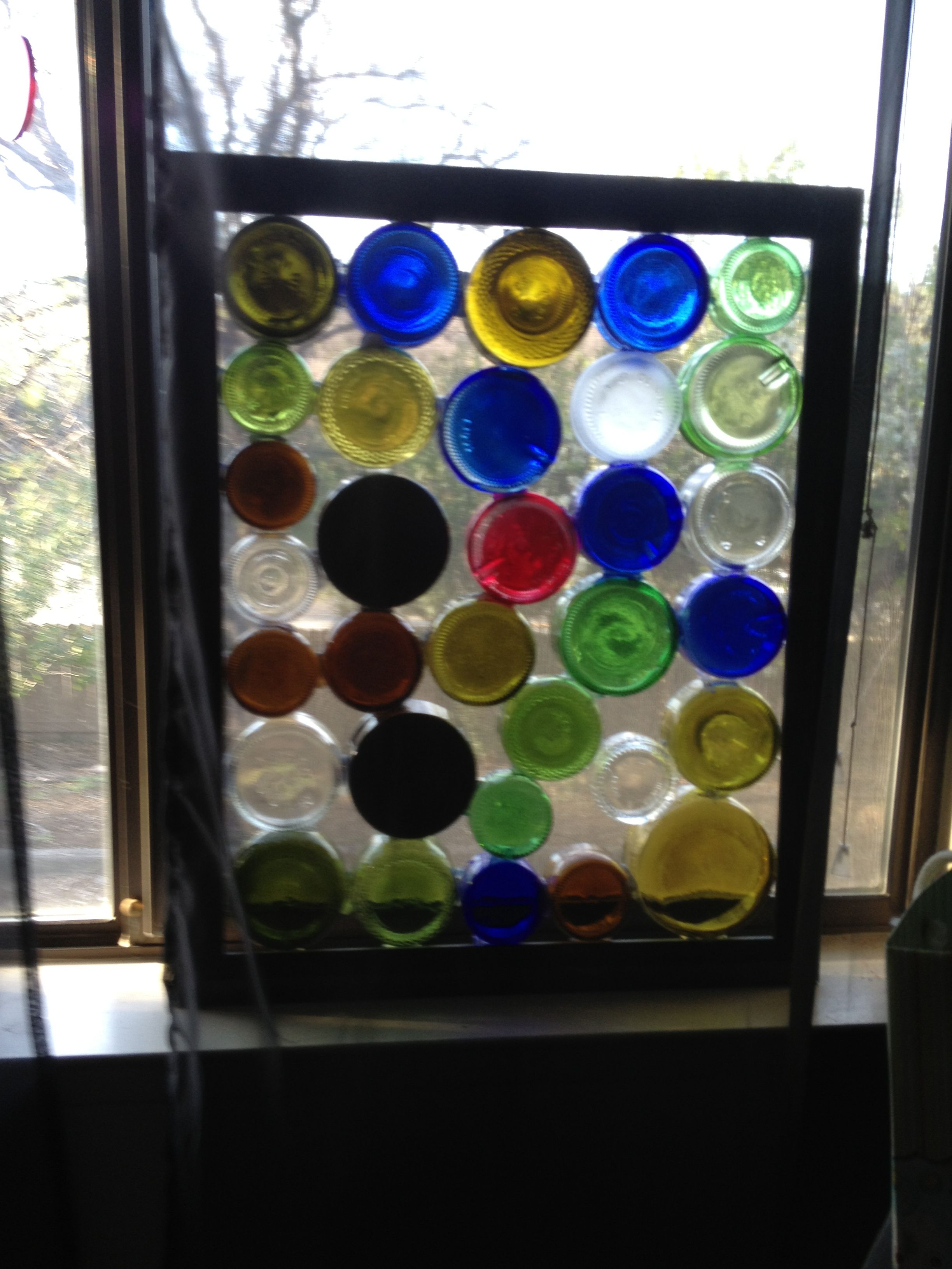 Bottle Art Window For The Yard Pinterest More