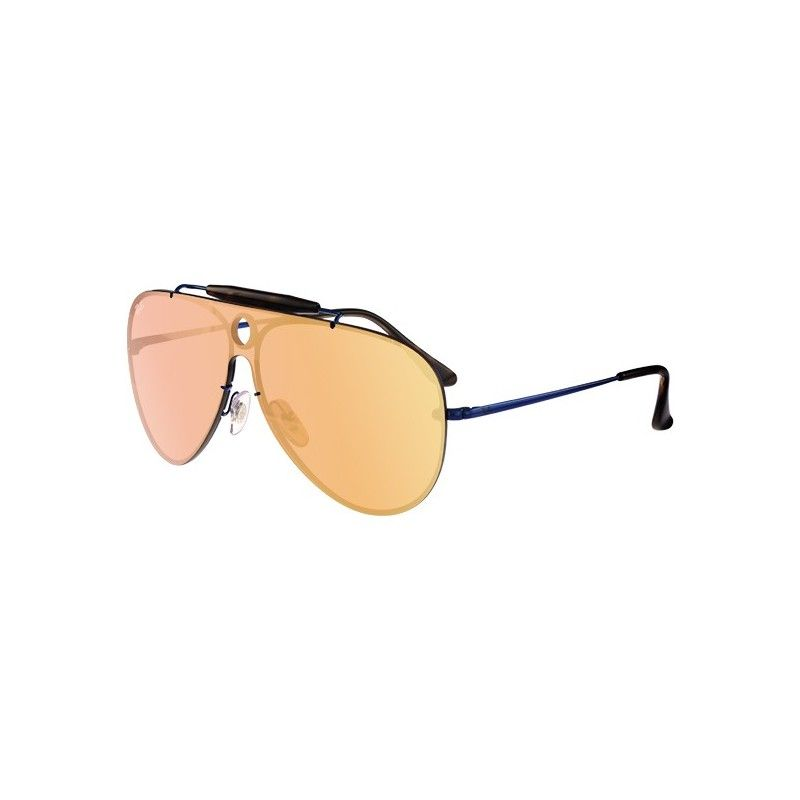 Gafas De Sol Ray Ban Rb3581 Blaze Shooter Black Blue Mirror Sunglasses Glasses Mirrored Sunglasses