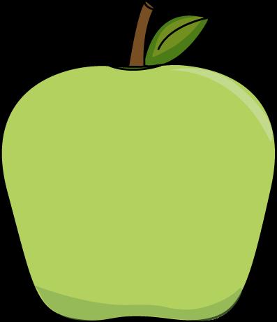 Apple printable. Big green clip art