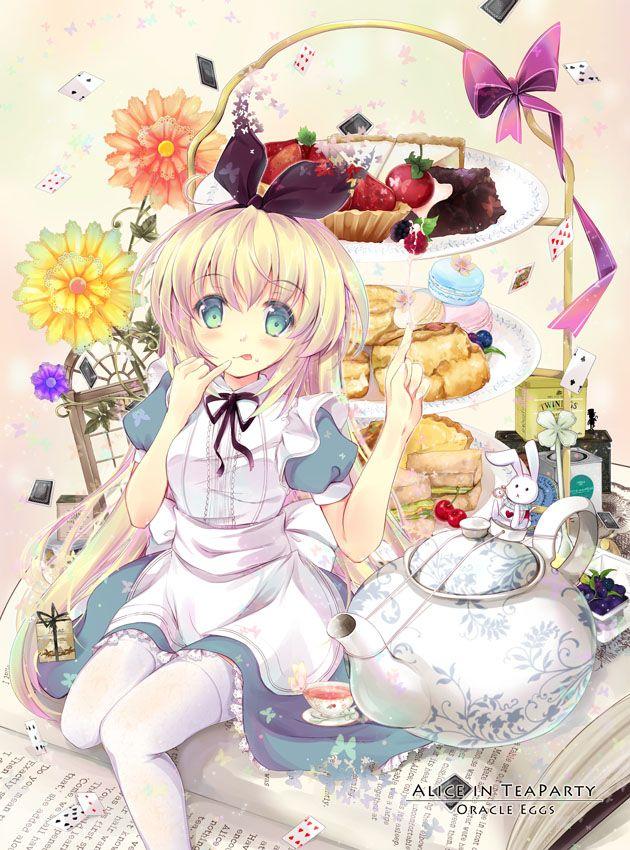 お茶会の国のアリス すいひ のイラスト Pixiv カワイイアニメ アリス アニメの女の子