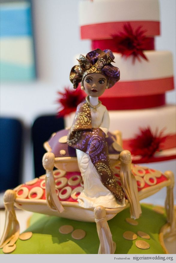 Nigerian Traditional Engagement cake