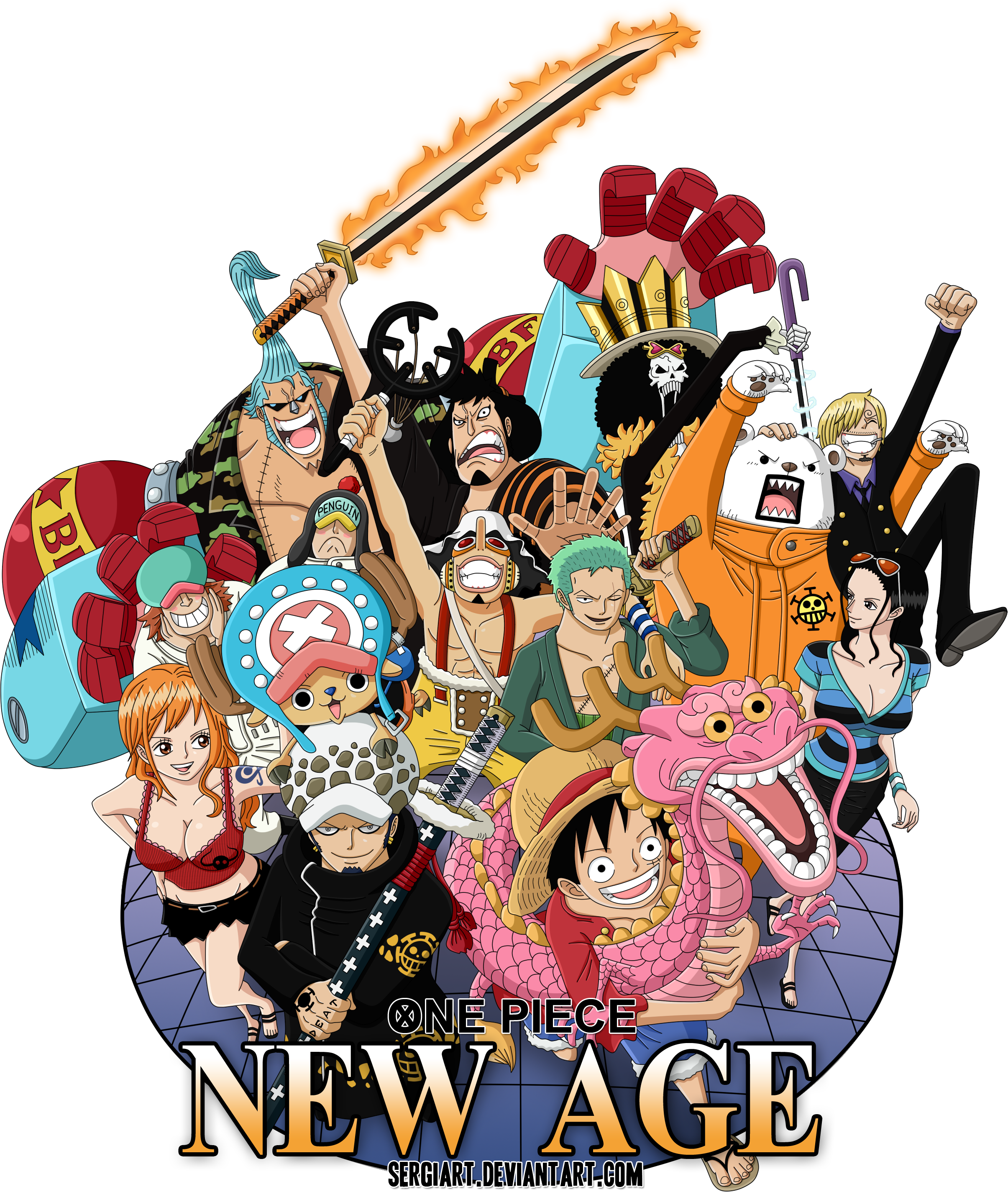 One Piece New Age By Sergiart On Deviantart One Piece Anime One Piece Manga One Piece