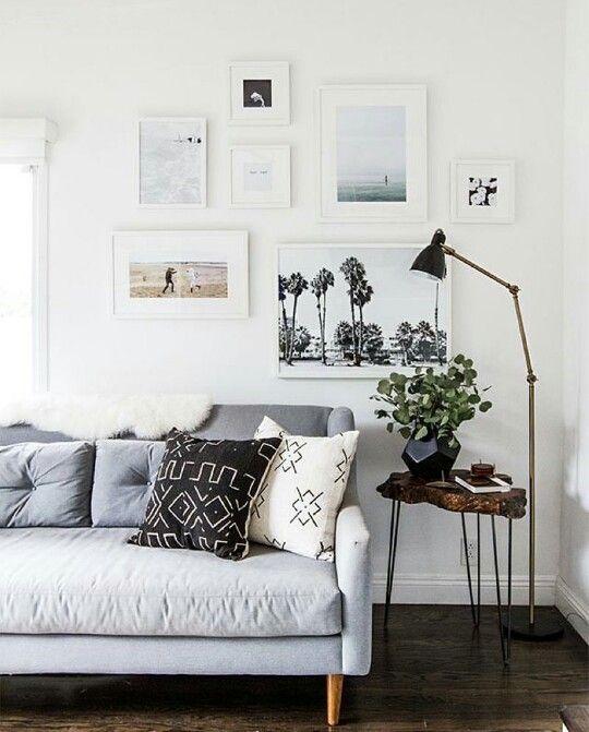 Gallery wall | Living Room | Pinterest | Hogar cálido, Sala de estar ...