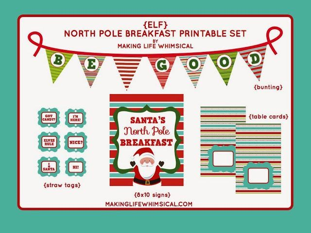 FREE Printable Elf North Pole Breakfast Set from Making Life Whimsical #elfontheshelf #northpolebreakfast FREE Printable Elf North Pole Breakfast Set from Making Life Whimsical #elfontheshelf #northpolebreakfast
