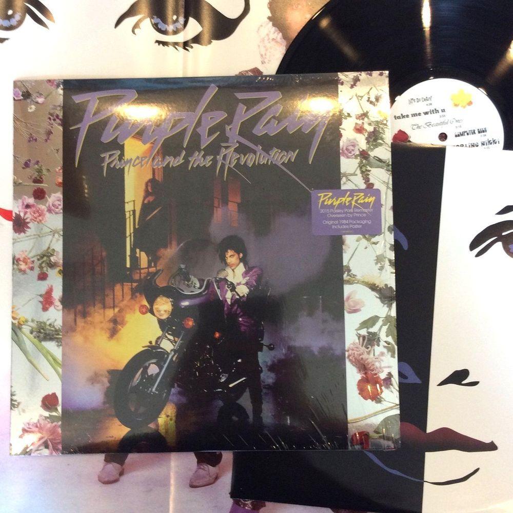 Prince Purple Rain In Shrink 180g 180 Gram Lp Vinyl Record Album Poster Vinyl Records Lps Vinylre Vinyl Record Album Prince Purple Rain Vinyl Records
