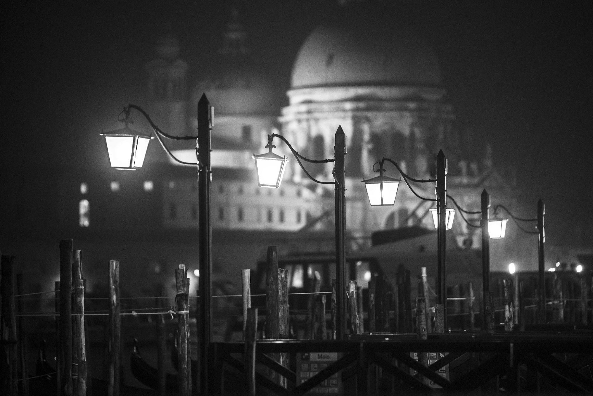 Venice the dark - Venice late night nobody is going around mystical...