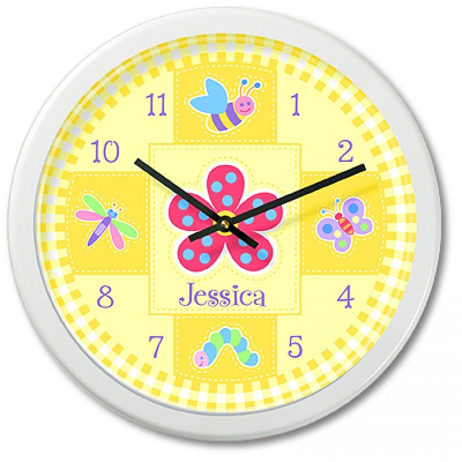 Olive Kids Flower Land Personalized Clock - OK-FLOW-002 | For Home ...