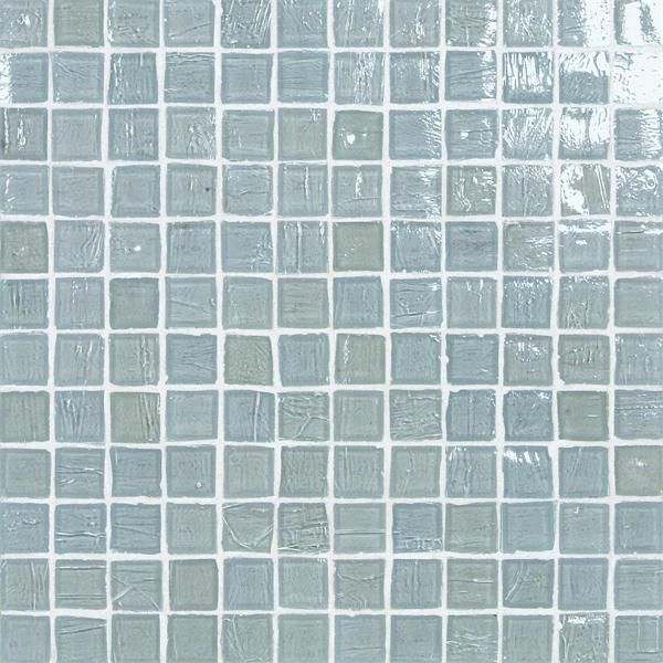 """Monochromatic 1""""x 1"""" Mosaic Tiles from Stone & Pewter Accents"""