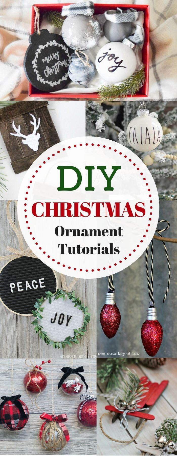 Handmade christmas ornament tutorials best crafts on pinterest