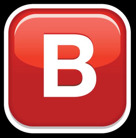 Negative Squared Latin Capital Letter B Emojistickers Com Lettering Letter B Emoji