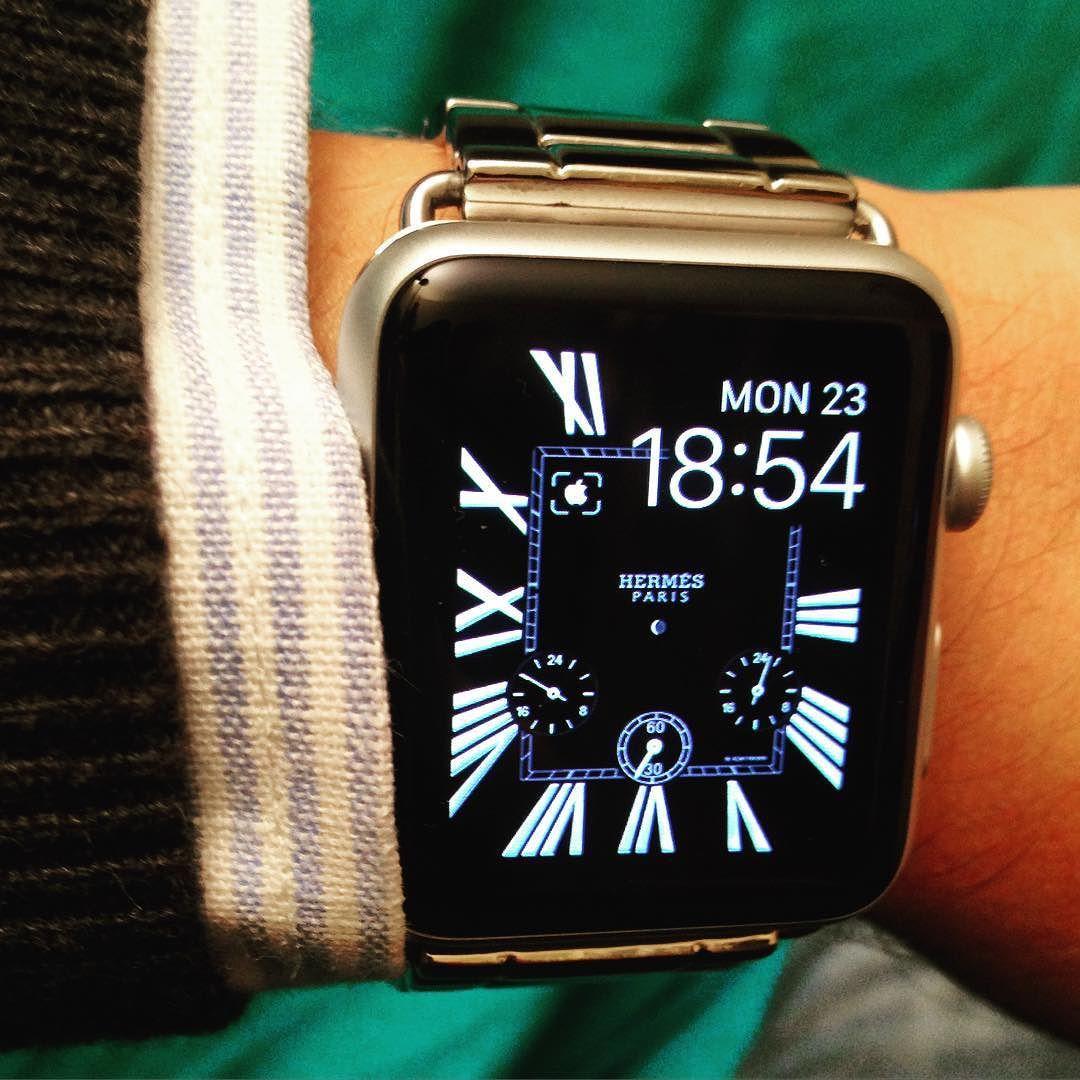Hermès Classic Style Face New Apple Watch Custom face