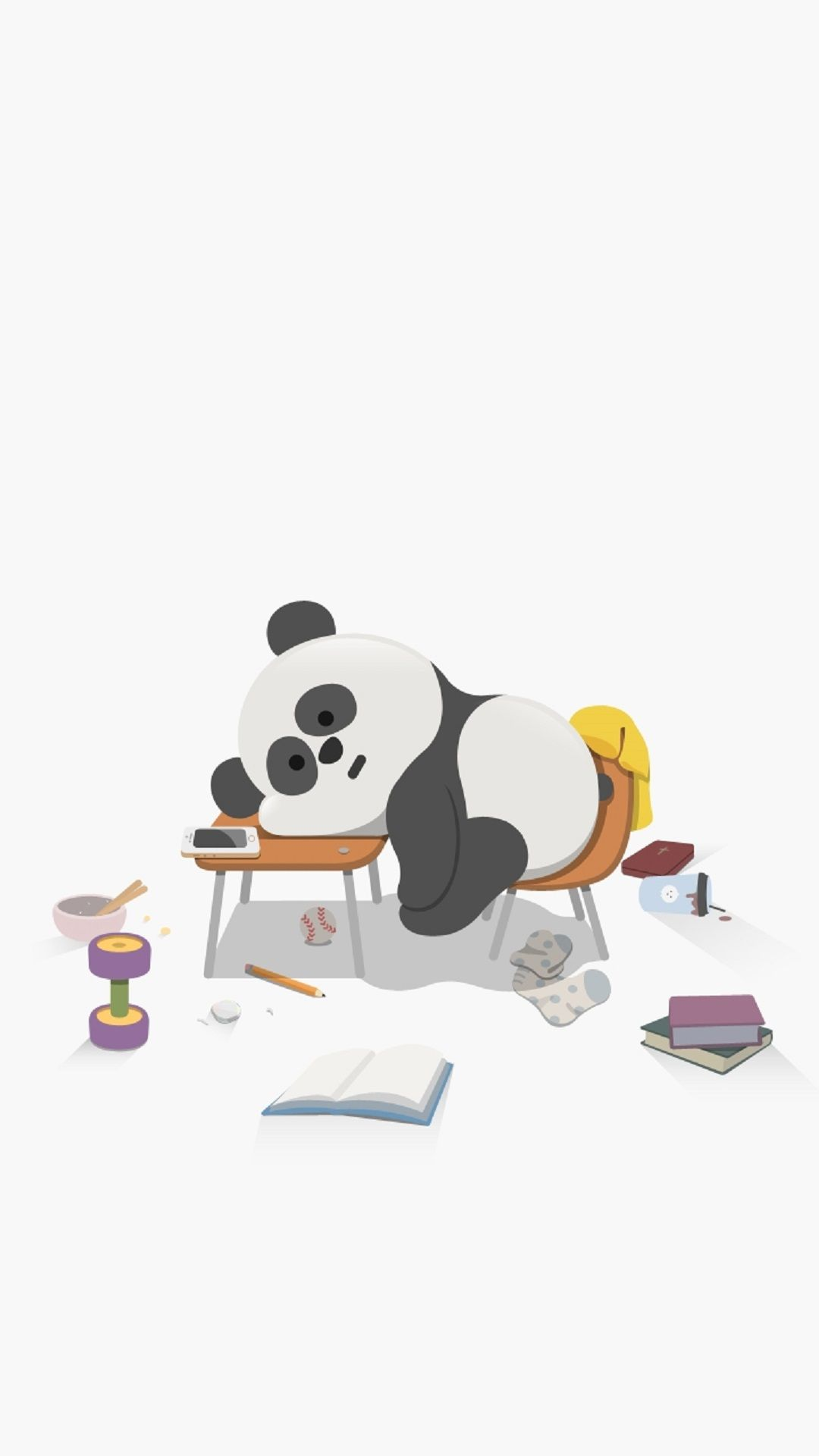Sleepy Panda Cute Panda Wallpaper Cute Cartoon Wallpapers Panda Wallpapers